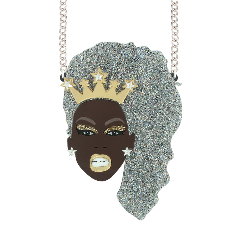 Limited Edition Christmas Queen Ru Paul necklace