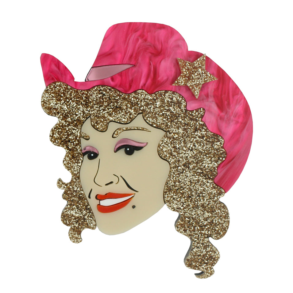Dolly Parton brooch