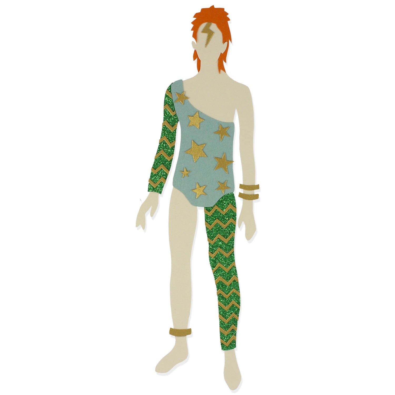 Limited Edition Bowie paperdoll (green)