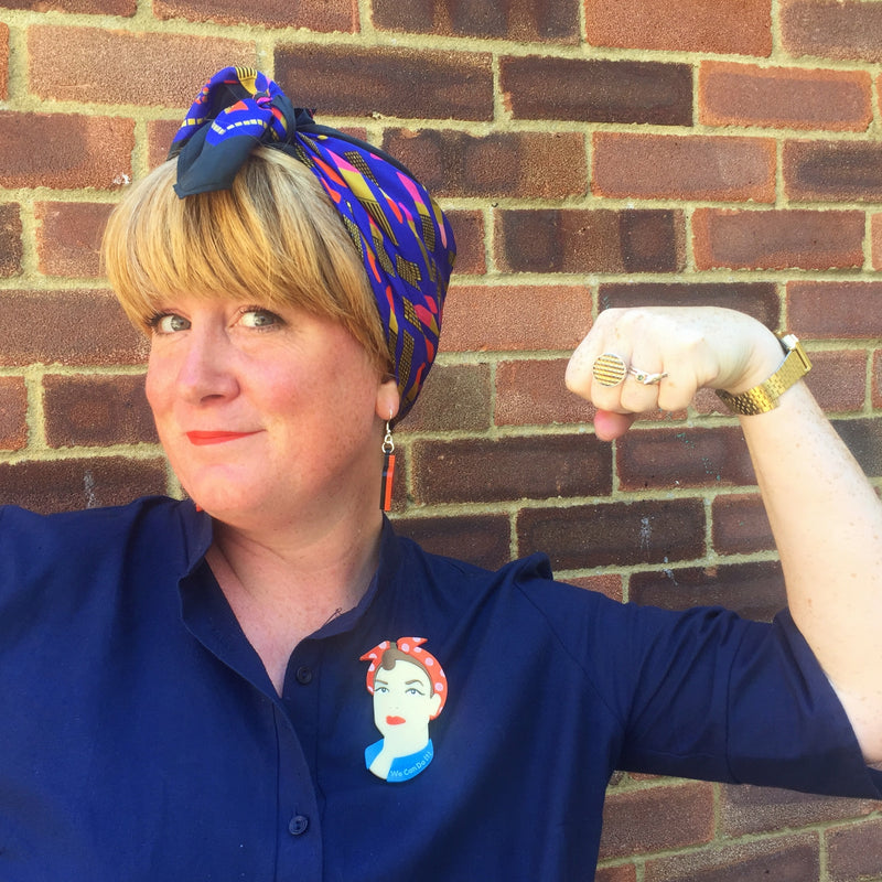 Rosie the Riveter brooch