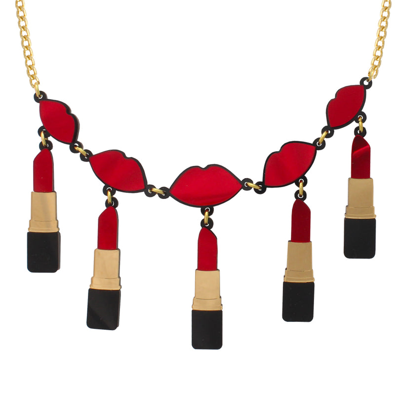 Lipstick Necklace