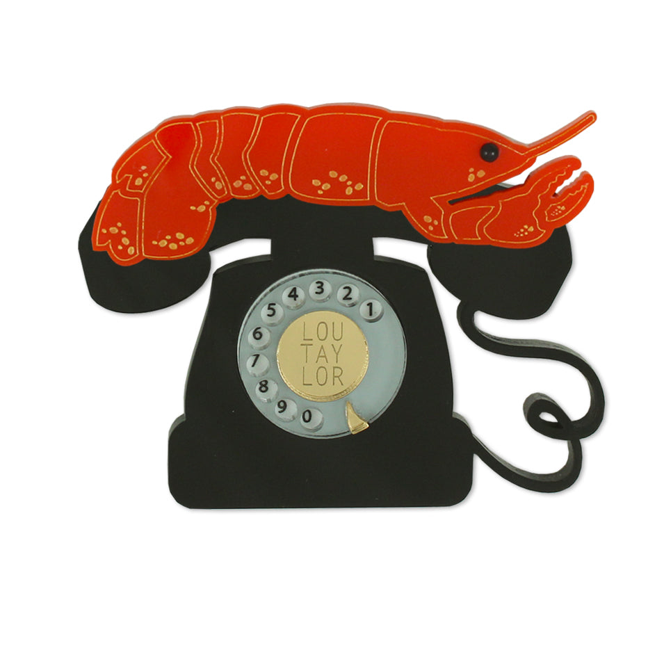 Lobster Telephone brooch
