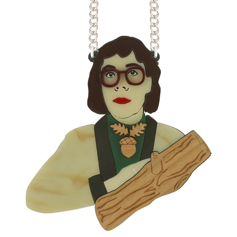 Log Lady necklace