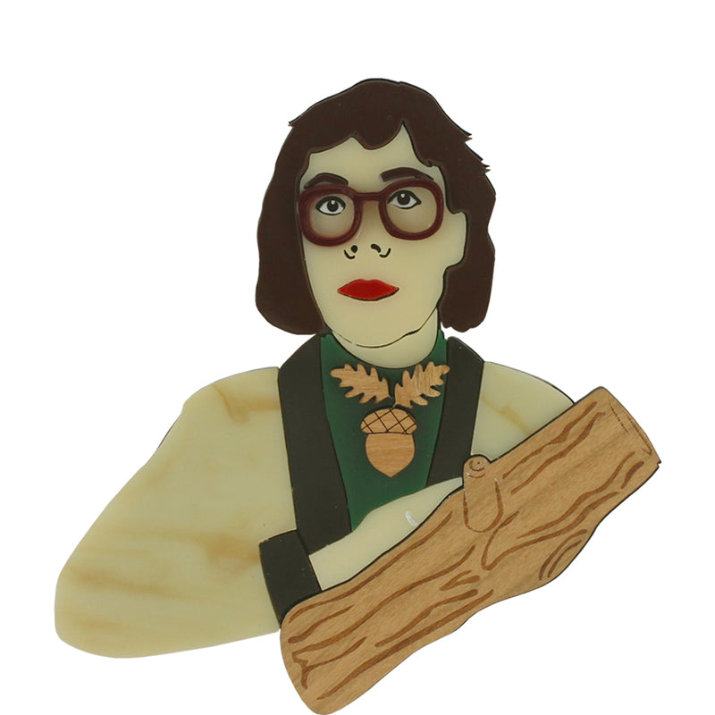 Log Lady brooch