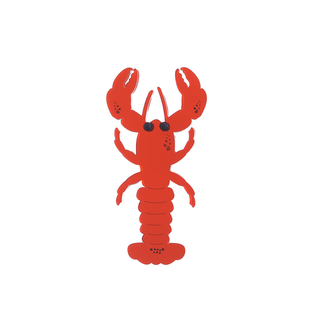 Lobster Brooch (red mirror)