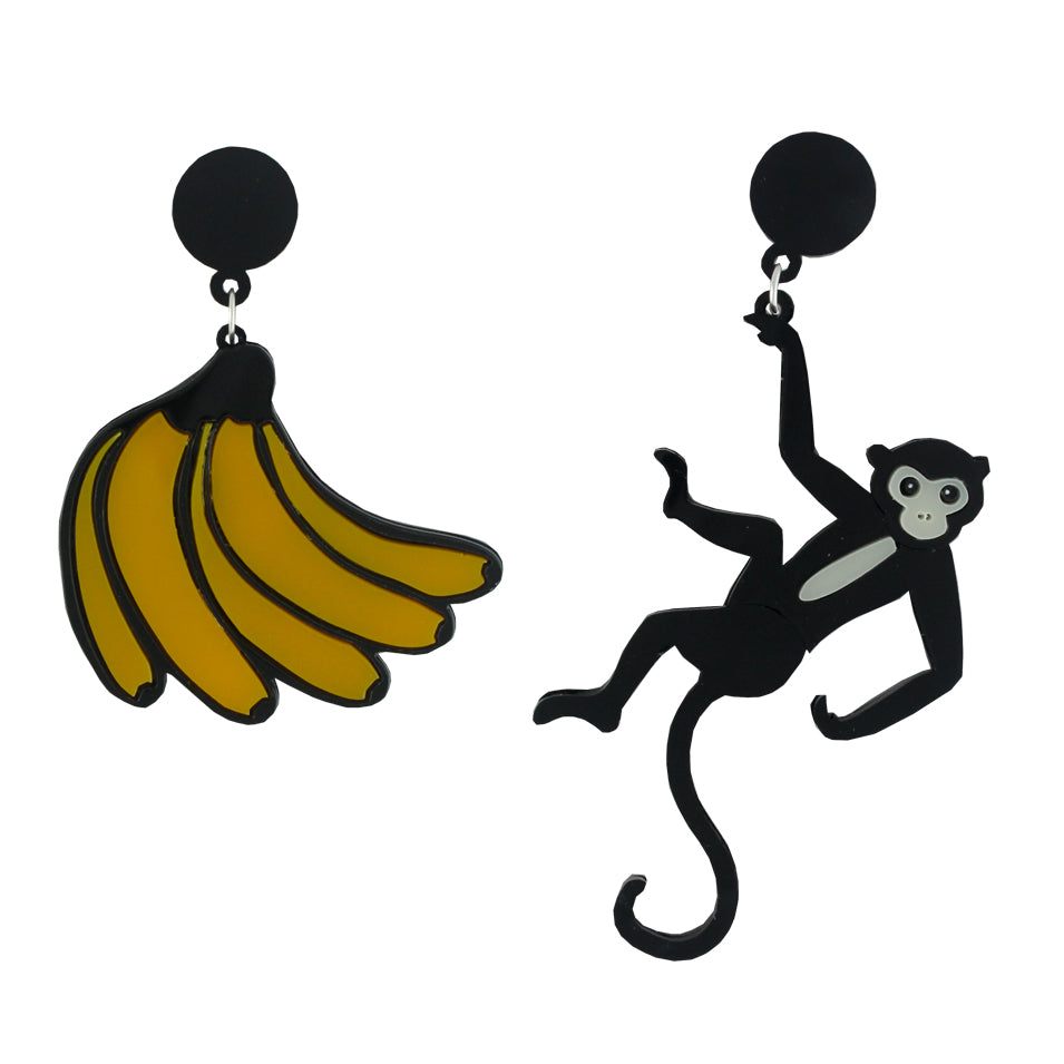 Banana and Monkey ear-rings