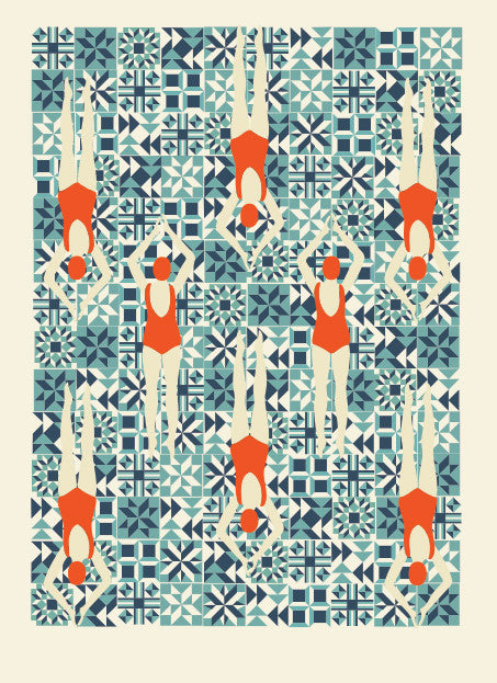 Swimmers Print
