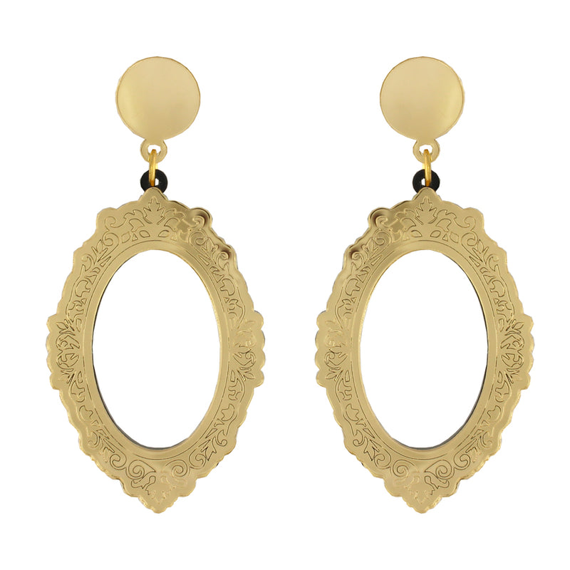 Frame ear-rings - oval