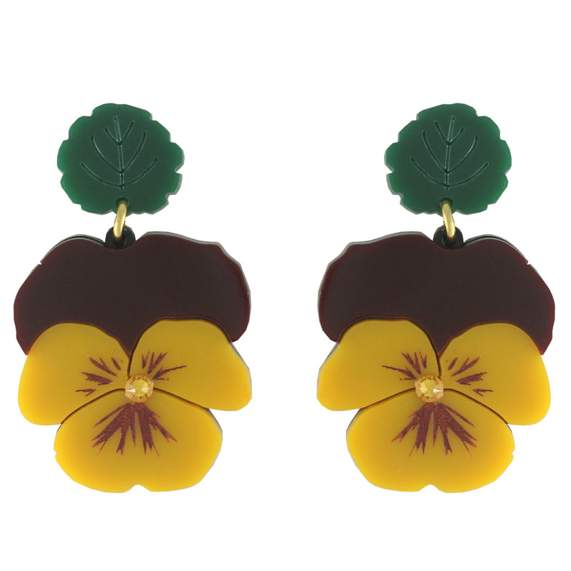 Pansy ear-rings