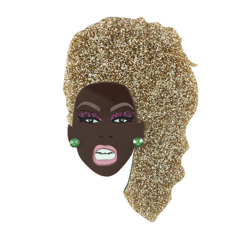 Ru Paul brooch