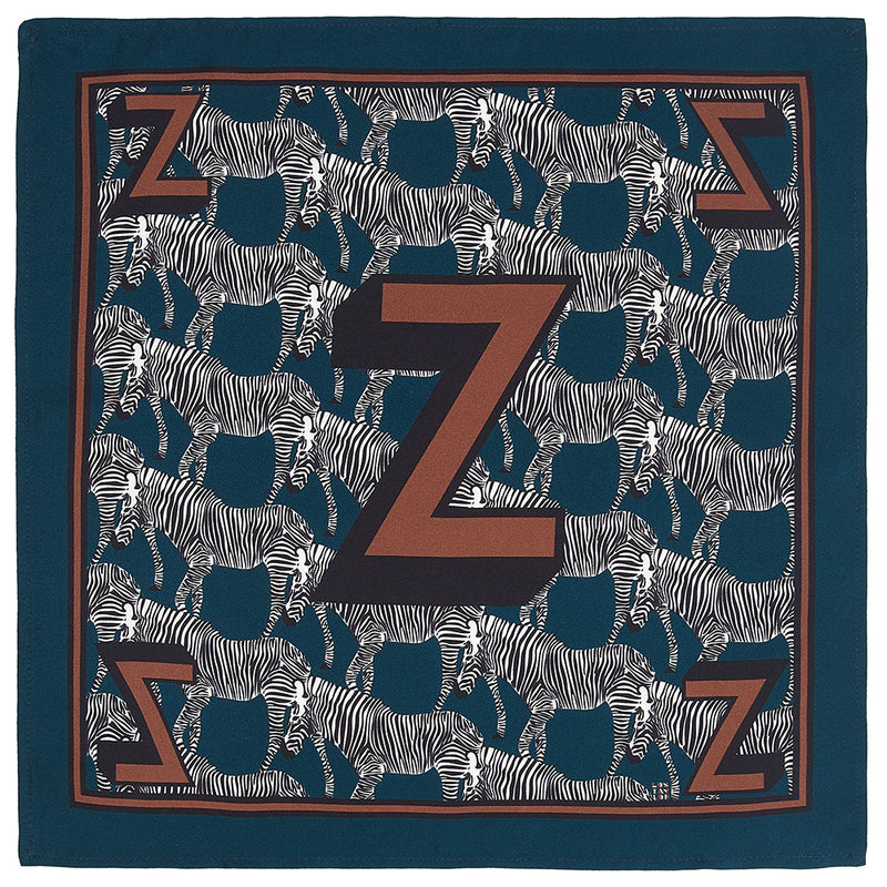'Z' silk pocket square