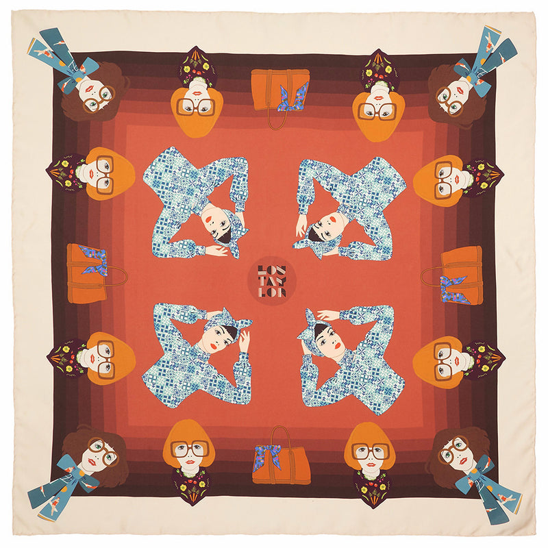 Small Swimmers Silk Scarf