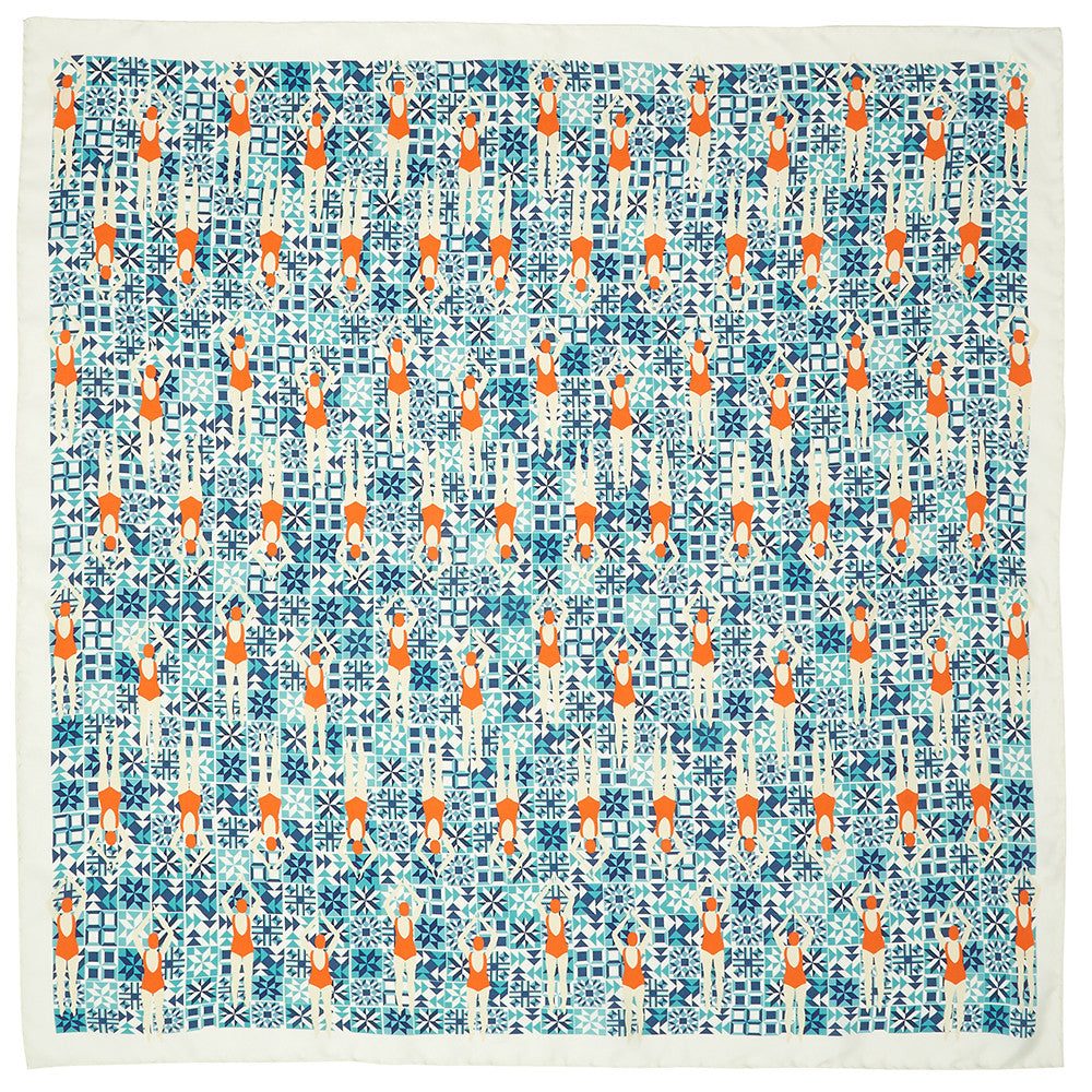Swimmers Silk Scarf