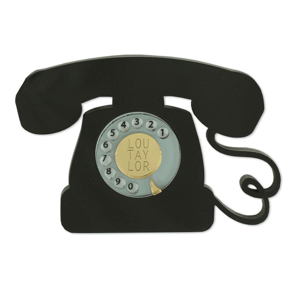 Telephone brooch