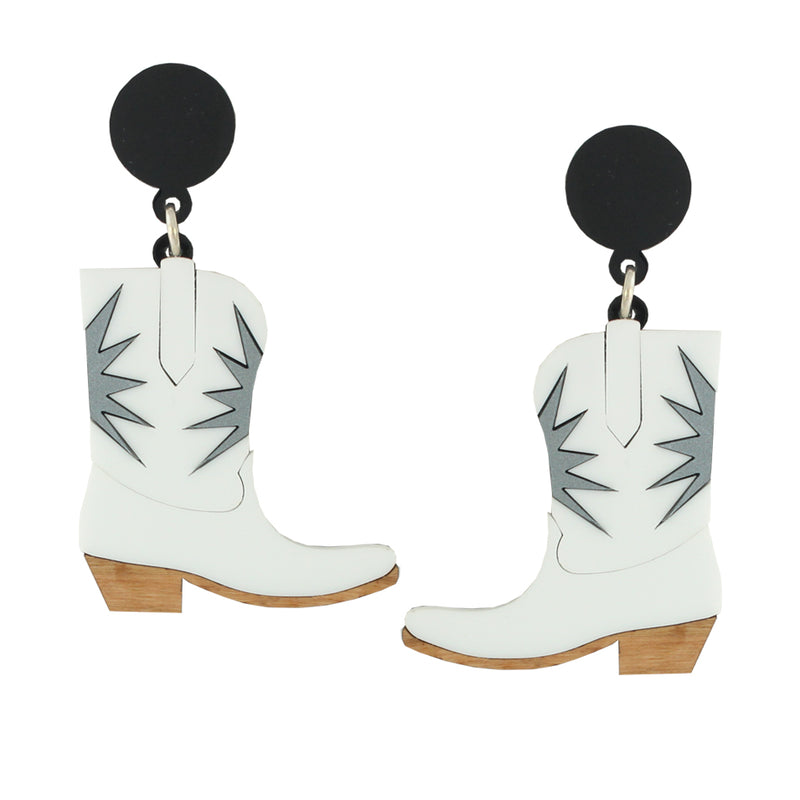 Statement Cowgirl necklace - white