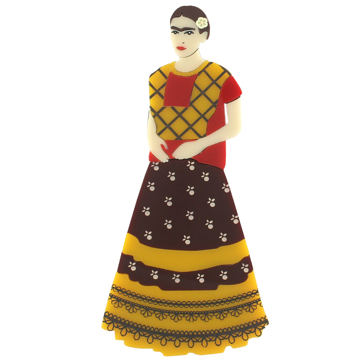 Frida Kahlo lasercut brooch