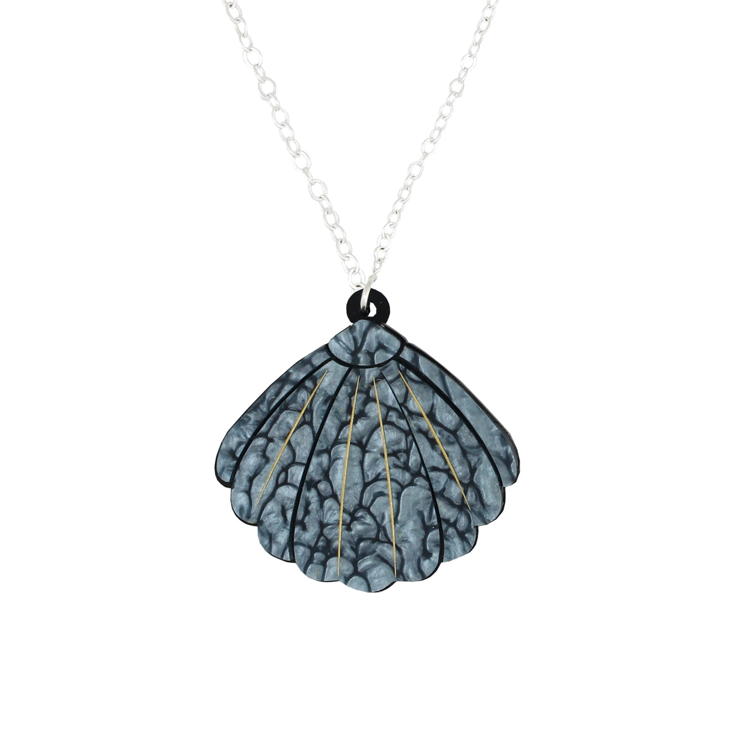 Small Blue Shell necklace