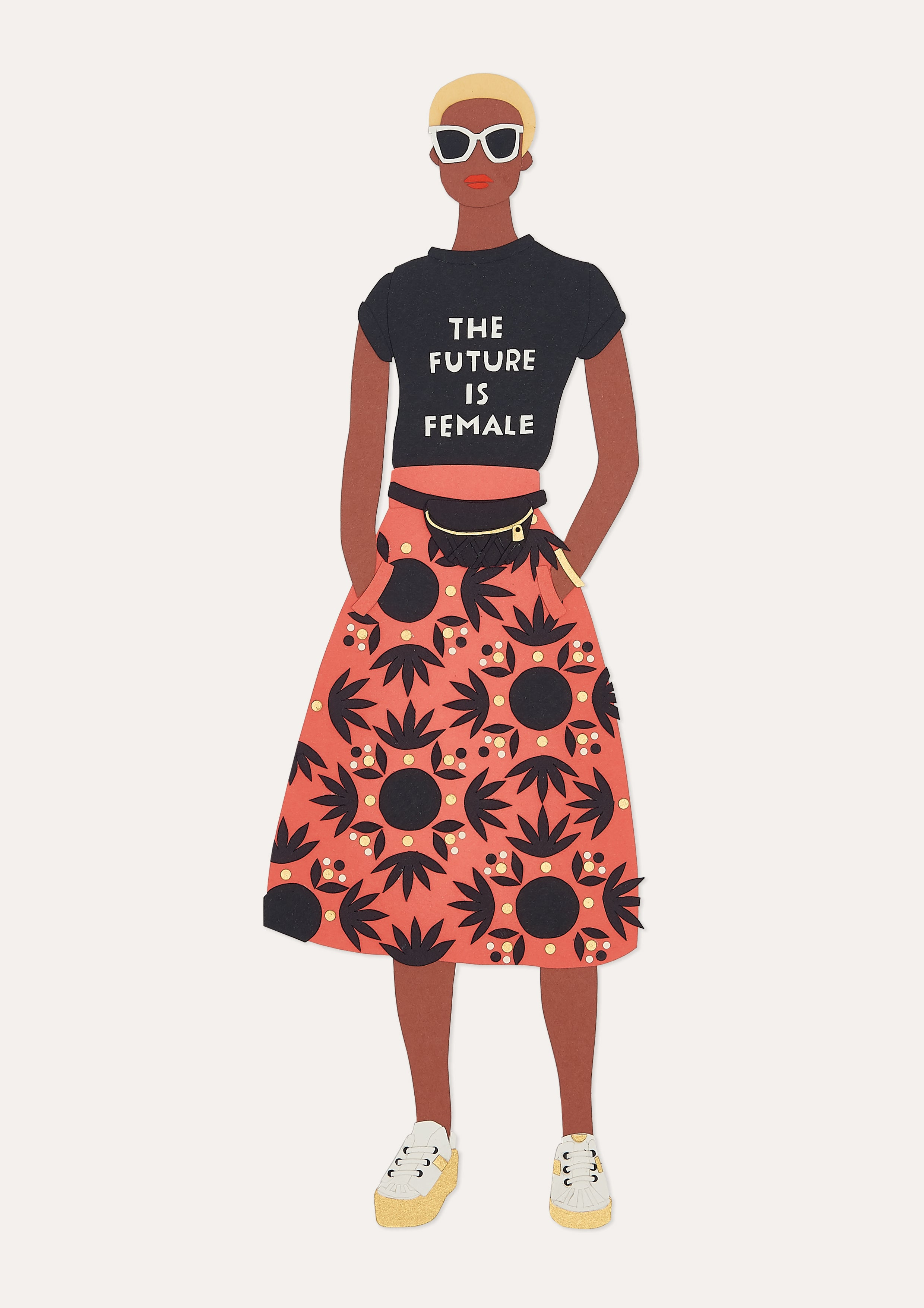 The Future Is Female print