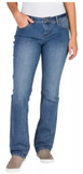 Natural Reflections Classic Fit Straight Leg Jeans - Ladies