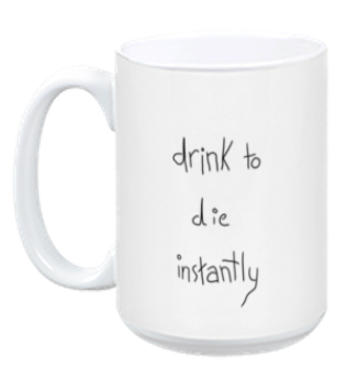 Instant Death Mug from A Ghost Story - Webcomic Merchandise