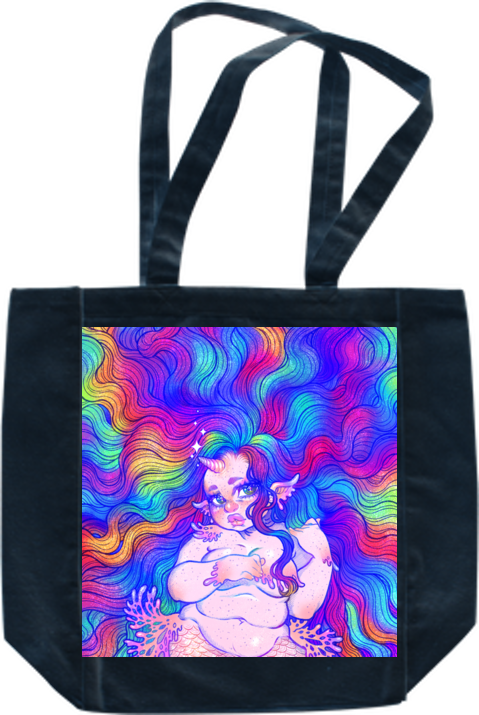 Rainbow Mermicorn Tote from Gunkiss - Webcomic Merchandise