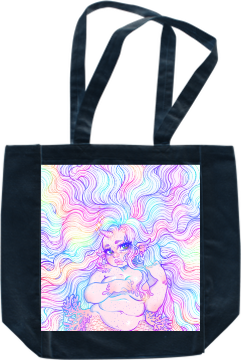 Pastel Mermicorn Tote from Gunkiss - Webcomic Merchandise