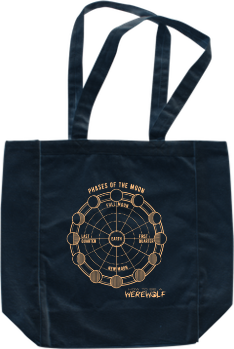 HTBAW - Phases of the Moon Tote dark