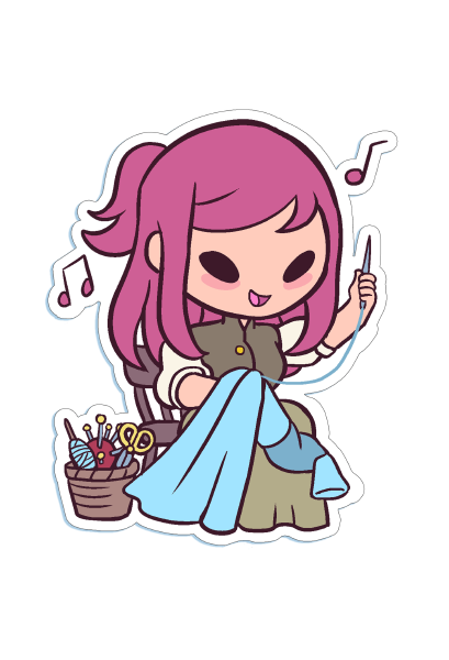 Die-cut Chibi Catharine Sticker