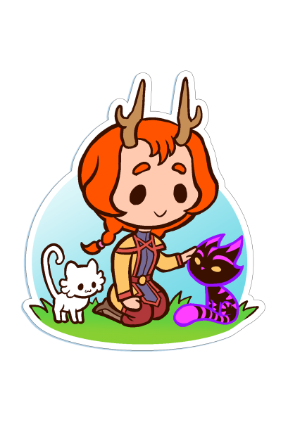 Die-cut Chibi Claire Sticker