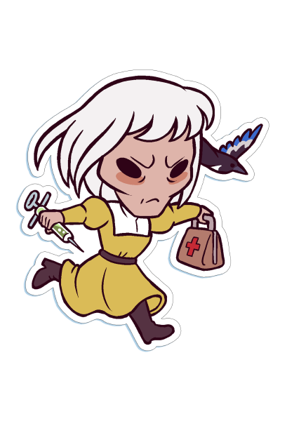 Die-cut Chibi Marguerite Sticker