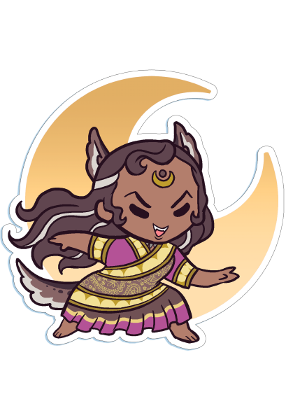 Die-cut Chibi Raksha Sticker