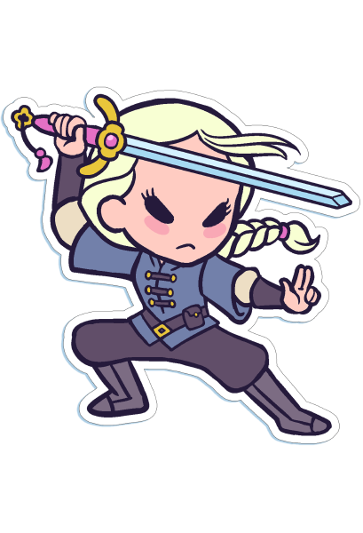 Die-cut Chibi Rosalie Sticker