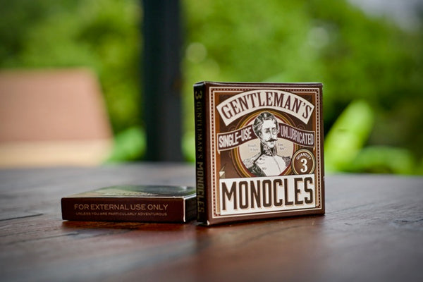 Gentleman's Single-use Unlubricated Monocles 3-Pack from SMBC - Webcomic Merchandise