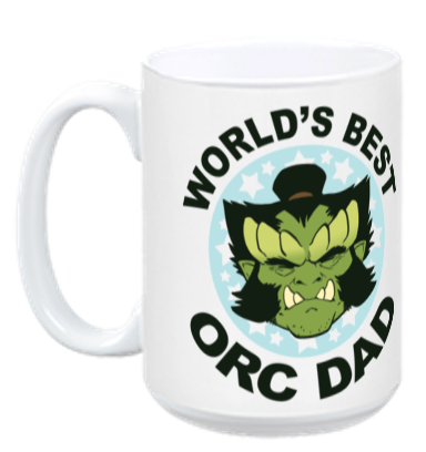 World's Best Orc Dad Mug from Daughter of the Lillies - Webcomic Merchandise