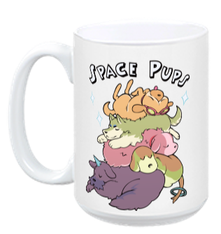 Space Pups Mug from StarHammer - Webcomic Merchandise