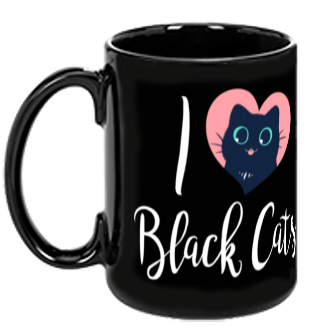 I Heart Black Cats from The Weave - Webcomic Merchandise