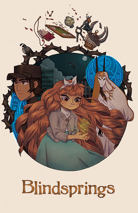 Blindsprings - A Mystery Unfolds in Kirkhall print from Blindsprings - Webcomic Merchandise