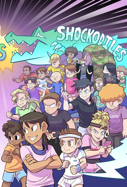 Paranatural - Burnhounds vs Shockodiles print from Paranatural - Webcomic Merchandise