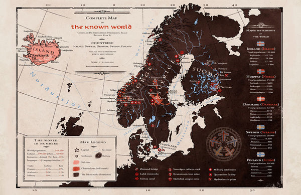 Stand Still. Stay Silent - Map of the known world print from Stand Still Stay Silent - Webcomic Merchandise