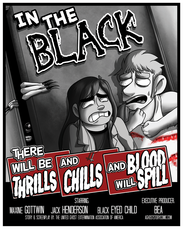 A Ghost Story - In The Black Small Print from A Ghost Story - Webcomic Merchandise