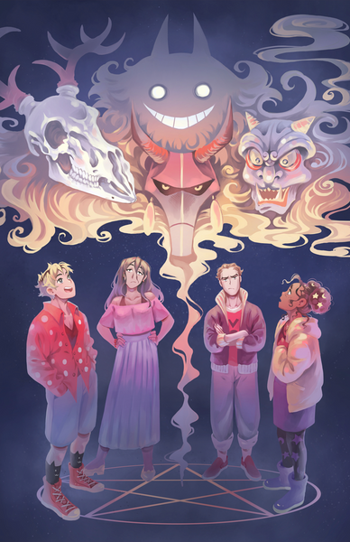 Demon Studies - Cast and their demons print from miyuli - Webcomic Merchandise