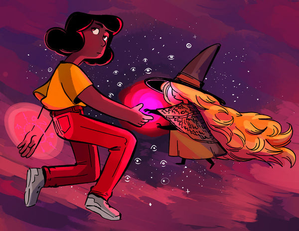 Demon Street - Raina and Essie print from Demon Street - Webcomic Merchandise