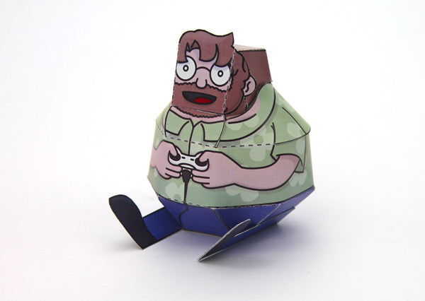 Whomp! - Fold-Up Paper Ronnie from Whomp! - Webcomic Merchandise