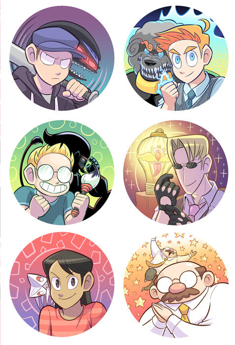 Paranatural Sticker Sheet from Paranatural - Webcomic Merchandise