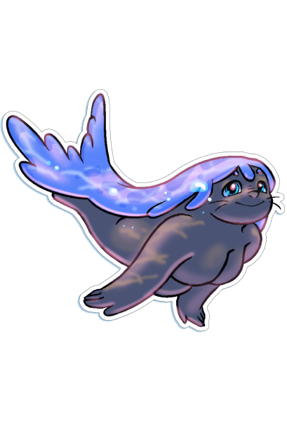 Die-cut Selkie Gabby Sticker