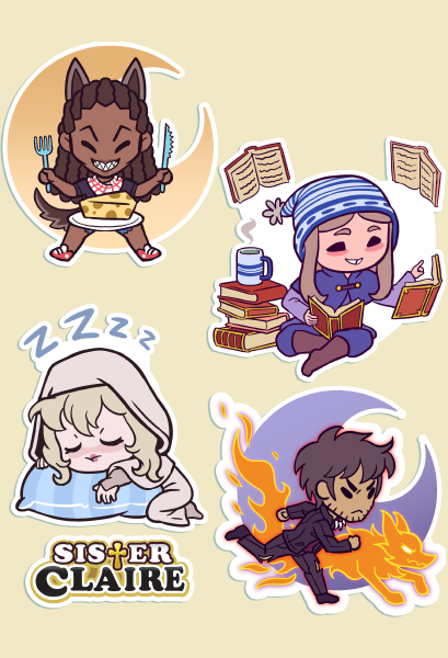 Azi and Co. Sticker Sheet