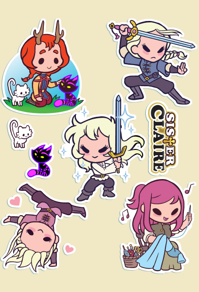 Claire and Co. Sticker Sheet
