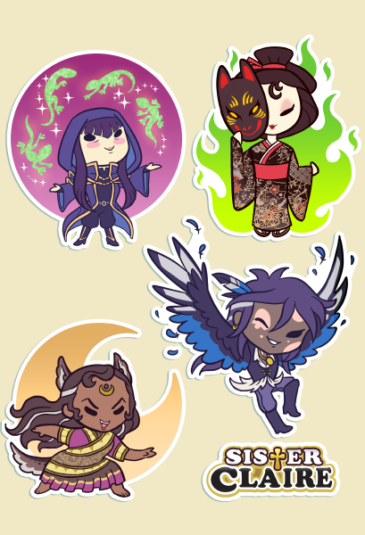 Hanabi and Co. Sticker Sheet