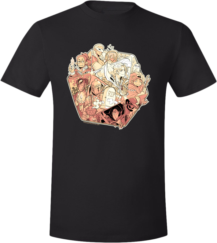 DND Tee from Hiveworks - Webcomic Merchandise