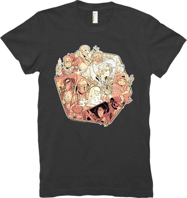 DND Tee Women from Hiveworks - Webcomic Merchandise